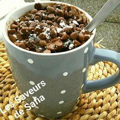 Mug cake aux pépites  Recette sur Facebook  Les Saveurs de Safia