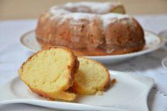 Citrónová bábovka • recept • bonvivani.sk Dessert Recipes, Desserts, Baked Potato, Potatoes, Baking, Ethnic Recipes, Food, Basket, Lemon