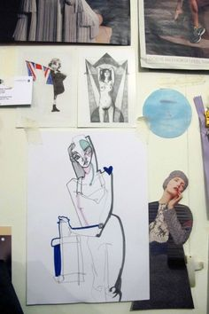 Raffaele Ascione's sheet of inspiration, a sample of sketchbook work from an MA…