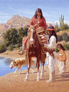 Native Americans Indians Down By The River ~ David Nordahl Apache Gallery