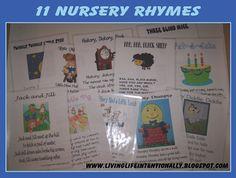 nurseri rhyme, printabl, preschool