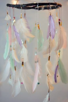 Hey, I found this really awesome Etsy listing at https://www.etsy.com/listing/257050396/dreamcatcher-mobile-lavender-pink-mint