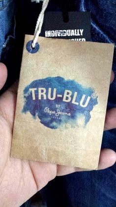 True Blue by Pepe Jeans #hangtag