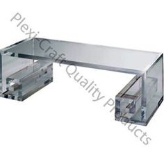 """Plexi-Craft is this beautiful Grecian inspired Greek Key Scroll Table $3,080. Greek keys are interlocking geometric designs arranged in repeating patterns.Made with 1 ¼"""" clear acrylic, you are getting a solid cocktail table that will inspire conversation (not to mention devotion) at your next party.  http://www.dwellwellnyc.com/category/space-saving/"""