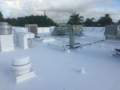 This flat roof of a Best Western in Stuart, Florida is now sealed and protected with Gaco silicone roof coating products. South Florida, Stuart Florida, Roof Restoration, Roof Coating, Some Beautiful Images, Before And After Pictures, Flat Roof, Best Western, Projects