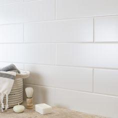 Blanco Matt Rhian 40x10 Tiles Wall Tiles