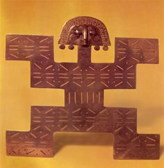 ANTROPOMORFO - QUIMBAYAS Easter Island, Galapagos Islands, Gold Work, Buddhist Art, Repeating Patterns, Chevrolet Logo, Geography, South America, Sculptures