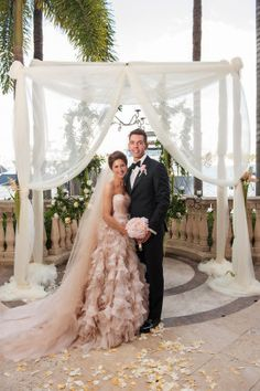 This wedding is a fashion power house.  A stunning Monique Lhuillier gown meets dapper men in bow ties kind of powerhouse that takes everything you think you know about glamorous weddings and kicks it up a notch with some of the most beautiful