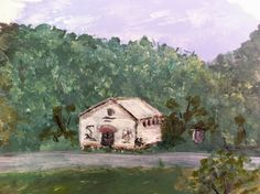 """One room schoolhouse in Eastern Kentucky.  Painting from """"A Mountain Education"""" on Appalroot Farm: A Blog Inspiring those with Appalachian Roots to Celebrate their Heritage.  www.appalrootfarm.com"""