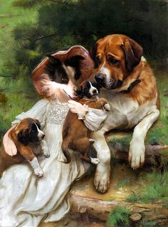 Bella's Gallery of Dog Art - Part 9 (Romantic) on Behance