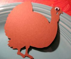 Thanksgiving Turkey Place Card Set 12 by tiffzippy on Etsy, $4.00