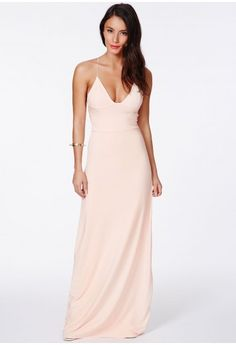 Missguided - Karinka Slinky Strappy Maxi Dress In Nude $53.98 @Brittany Alwerud Love this one!