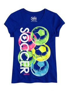 Soccer Graphic Tee | Girls Graphic Tees Clothes | I know how much you love soccer @Skittles3141 ♡ |