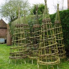 Twigs and Trimmings fashioned into supports - the most beautiful garden accessory!