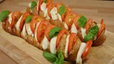 Fächerbaguette mit Tomate und Mozzarella