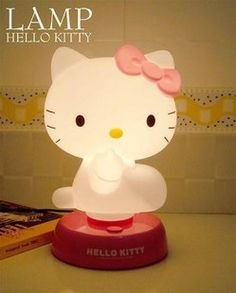 Hello Kitty Night Light so cute for that little girls room Hello Kitty Lamp, Hello Kitty Rooms, Sanrio Hello Kitty, Kawaii, Little Ones, Little Girls, Wonderful Day, Hello Kitty Collection, Pin On