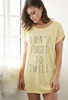 Smile Graphic Nightdress | Forever 21 - 2000077791