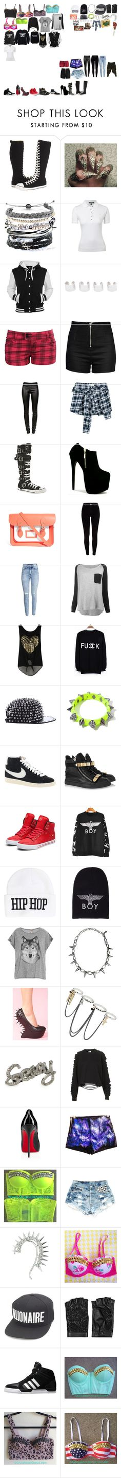 """""""Packing for Tour"""" by kaelighofficial ❤ liked on Polyvore featuring Converse, Domo Beads, Lauren Ralph Lauren, Weiss, Maison Margiela, YMI, Love Moschino, Helmut Lang, Faith Connexion and The Cambridge Satchel Company"""