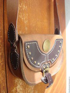 Купить Кожаная сумка через плечо - коричневый, кожа, кожа натуральная, Кожаная сумка
