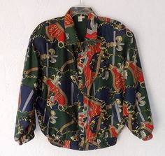 Vintage Jacket Baroque Silk Bomber Jacket FUDA by luvofvintage, $32.00