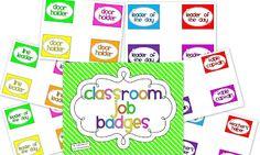 FREE Teaching With Love and Laughter: Classroom Job Badges Classroom Labels, Classroom Jobs, Classroom Organization, Preschool Jobs, Kindergarten Classroom Management, Teacher Websites, Teacher Blogs, Teacher Stuff, Bucket Filling Classroom
