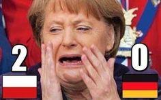 Angela Merkel rozpacza po meczu Polska vs Niemcy • Reakcja Merkel po 2:0 • Śmieszne zdjęcia po meczu Polski • Wejdź i zobacz więcej >>