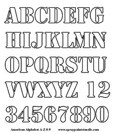 Alphabet Letters To Cut Out | Alphabet Stencil - Free Upper Case and Numbers