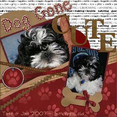 Dog scrapbook idea