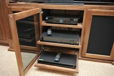 Diy home entertainment centers custom center with slide out electronic shelves plans . diy home entertainment centers Custom Entertainment Center, Entertainment Center Kitchen, Diy Entertainment Center, Entertainment System, Arizona, Audio Room, Tv Decor, Wood Shelves, Entertaining