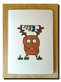 Hey, I found this really awesome Etsy listing at https://www.etsy.com/au/listing/251052693/cheeky-reindeer-christmas-card