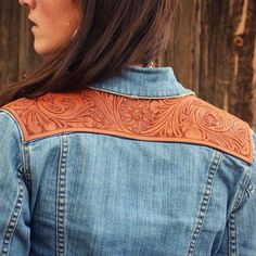 Add a little something special to your favorite jacket!! These thin, carved leather panels can be added just about anywhere!
