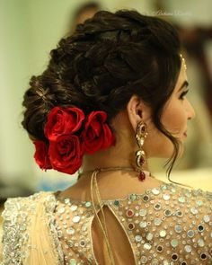 Brides with lower bun going trendy hair artistry by archana rautela Indian Wedding Hairstyles, Bride Hairstyles, Trendy Hairstyles, Hairstyles 2018, Spanish Hairstyles, Flower Hairstyles, Mexican Hairstyles, Hairdos, Bridal Hair Buns