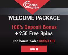 Cobra Casino will match your first deposit with a 100% bonus up to €500 + 250 Free Spins. Use bonus code: COBRA100.  Second deposit bonus: 50% up to €150 + 50 free spins. Use bonus code: COBRA50.  Third deposit bonus: 125% up to €400. Use bonus code: COBRA125.  Tuesday free spins: €20 - €49 deposit - 25 free spins, €50 - €99 deposit - 50 free spins, €100+ deposit - 100 free spins. Use bonus code: TU100.  Birthday bonus: 100% up to €150.  Highroller bonus: 30% up to €500. Use bonus code… 100 Free, Online Casino, Tuesday, Third, Coding, Birthday, Programming, Birthdays, Birth Day