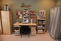 Beth Casady's craft room. Click through to read how she creates an awesome kids craft space!
