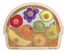 Puzzles.  Large Fruit Basket Jumbo Knob Puzzle - 8 pieces  (we have barnyard animals, shapes house, & jungle friends)