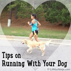 Tips on Running With Your Dog | LilMysNinja.com