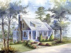 An exclusive design for Southern Living® by Caldwell-Cline Architects and Designers for Reynolds Landing.Architectural Rendering: Andrew King