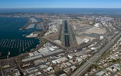 Aerial view of San Diego International Airport. Watch more pics @ http://www.airport-technology.com/projects/green-build-terminal-san-diego-international-airport/