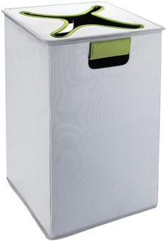 OXO Tot Flip-In Flex Lid Hamper- Gray/Green Make laundry time a slam dunk. Tossing clothes that need to be laundered into the Oxo Top Flip In Lid Hamper can Laundry Bin, Doing Laundry, Laundry Storage, Laundry Hamper, Closet Storage, Canoe Storage, Laundry Sorter, Lid Storage, Storage Containers