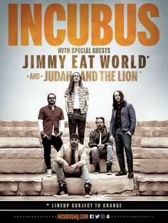 Incubus with Jimmy Eat World on August 18, 2017 - Saturday @ White River Amphitheater