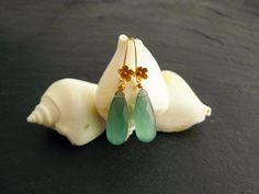 NEU: Goldene Ohrringe mit Quarz-Brioletten von Modetrueffel auf Etsy