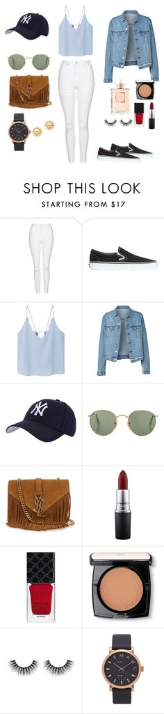 """""""schll"""" by natalieordnz on Polyvore featuring Topshop, Vans, MANGO, Hartford, Yves Saint Laurent, MAC Cosmetics, Gucci, Lancôme, Marc Jacobs and Tiffany & Co."""