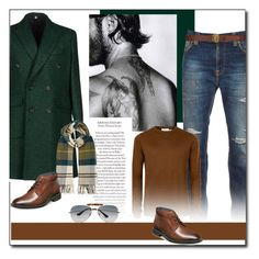 """""""Fall colors for Men"""" by littlefeather1 ❤ liked on Polyvore featuring Hardy Amies, Nudie Jeans Co., Topman, Barbour, Stacy Adams, Ray-Ban, Yves Saint Laurent, topsets and polyvoreeditorial"""