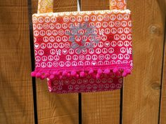 Silver Sun on Peace and Love Ombre Orange Pink Yellow Envelope Bag