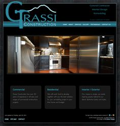 This custom fixed-width website and logo was designed for Grassi Construction, a general contractor in southwest Washington state. http://grassiconstructionsouthsound.com