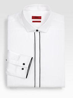 HUGO BOSS - Excite Solid Dress Shirt - Men's style, accessories, mens fashion trends 2020 Hugo Boss, Navy Blue Dress Shirt, Gents Kurta Design, Formal Shirts For Men, African Clothing For Men, Kurta Designs, Long Sleeve Shirt Dress, Men Dress, Spring Summer