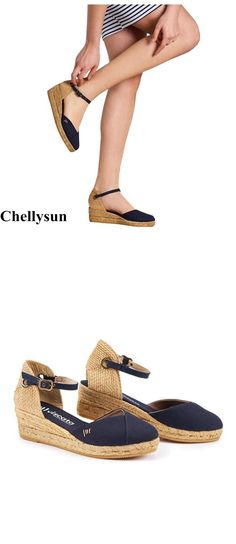 1dc69a063aa3 Closed toe espadrilles wedges lace up ankle strapes platform espadrilles wedges  sandals Chellysun  sandals