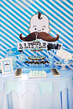 Little Man Moustache Party {Boys Baptism} // Hostess with the Mostess®