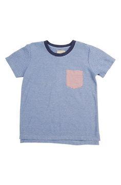 Peek Contrast Pocket Stripe T-Shirt (Toddler Boys, Little Boys & Big Boys)
