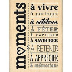 Du Fond du Cœur - Tampon Bois - Moments à Célébrer - 4.6 x 7.2 cm